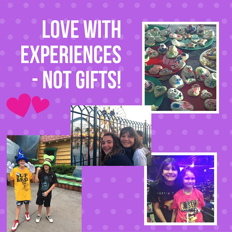Love withexperiences - not gifts!